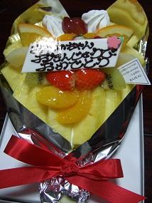 花束ケーキ