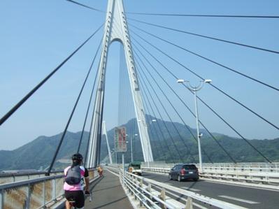 生口島橋通過中