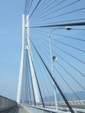 多々羅大橋通過中