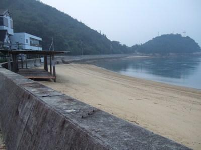 民宿のビーチ
