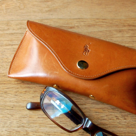 Polo Ralph Lauren LEATHER EYEGRASS CASE