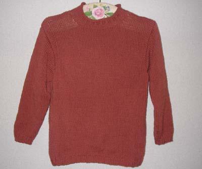 煉瓦色のセーター