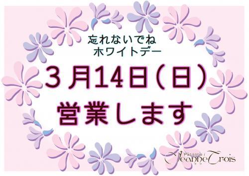 3月14日