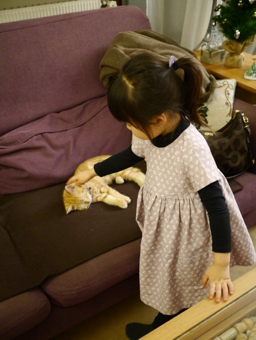 2013年12月13日順子さん、華子ちゃん、桜子ちゃん来宅 049