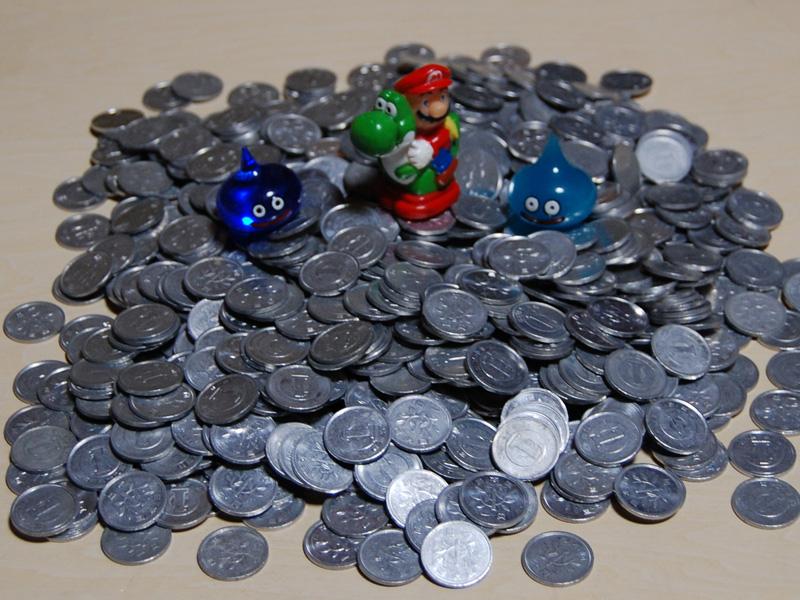 大量の一円玉