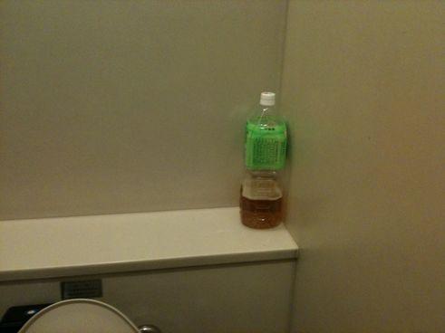 なぜかトイレに・・