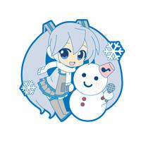 雪祭り雪ミクストラップ