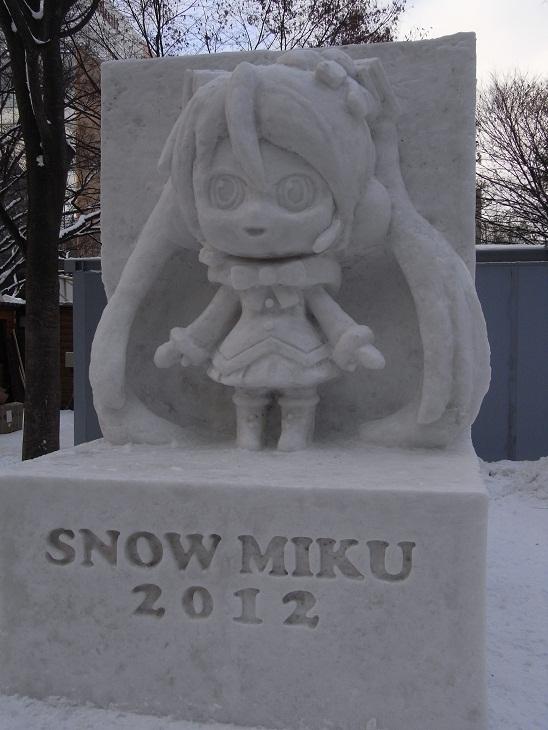 雪ミク雪像再びっ!