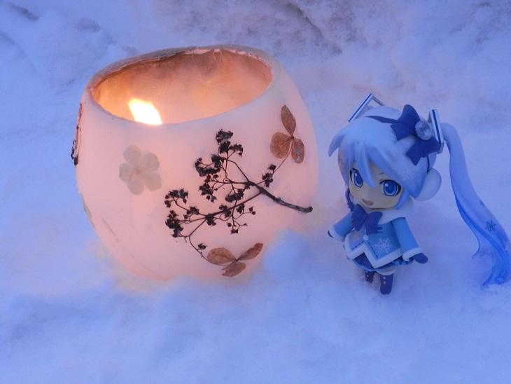 神秘的な雪明かり