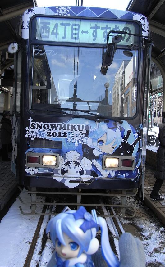 雪ミク電車正面