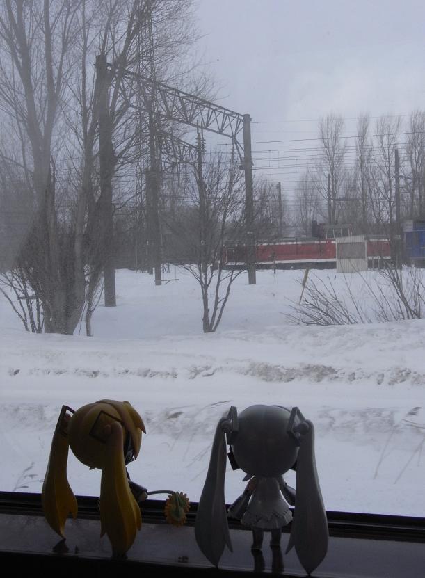 吹雪く車窓1