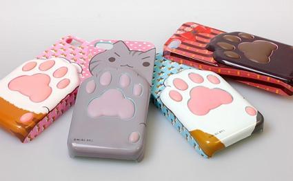 「猫の肉球の触感が楽しめる iPhone5 ケース」-1