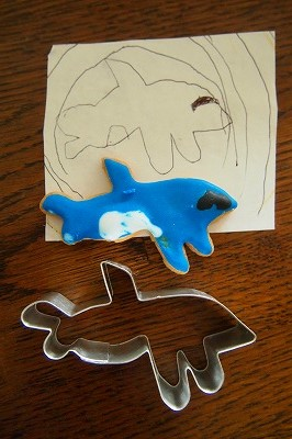 我が子のイラストクッキー型