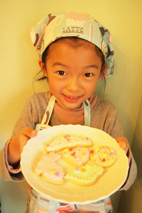 子供クッキーデコ体験