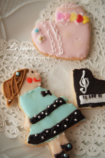 レッスンピアノモチーフアイシングクッキー西宮