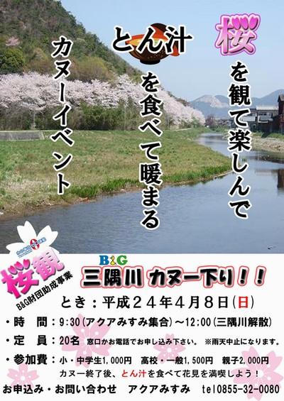 H24桜カヌー募集チラシ