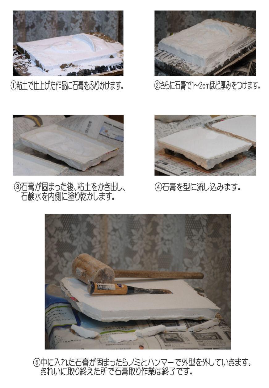 石膏取り作業過程 撮影 松田光司