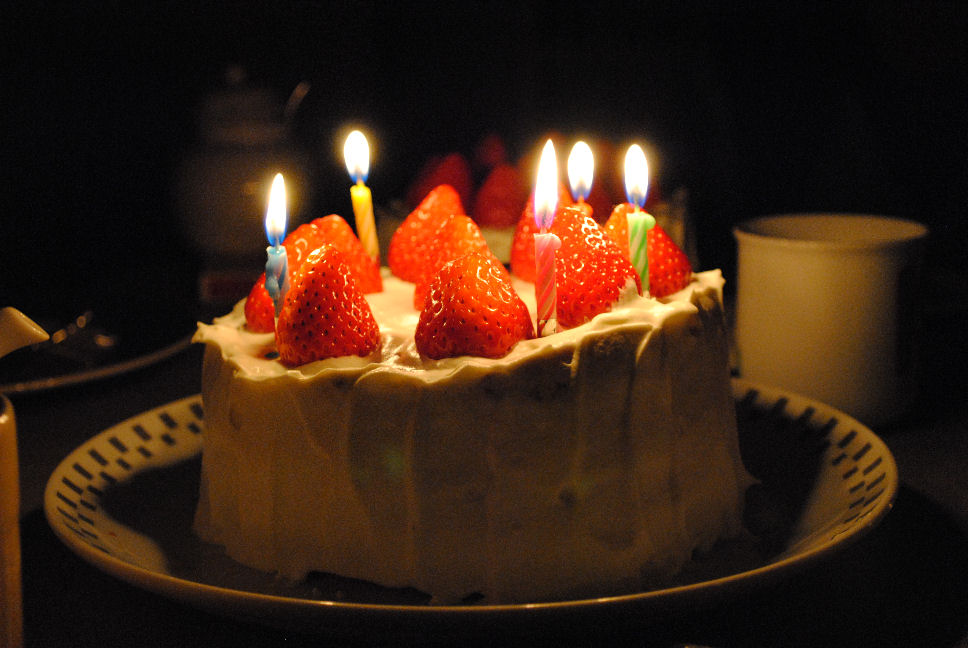 誕生日ケーキ 撮影 松田光司