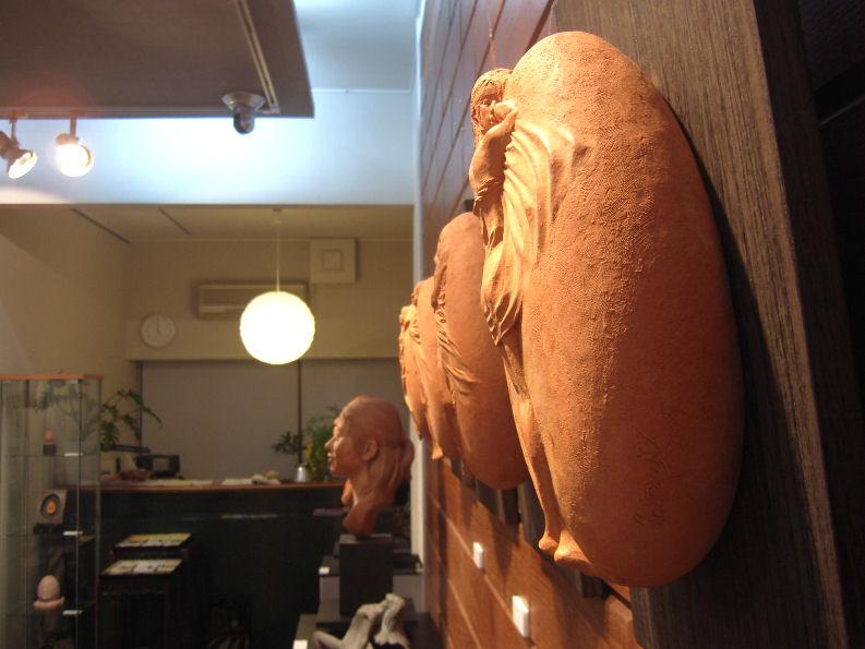 松田光司彫刻展(ギャラリーシエール)2009年1月