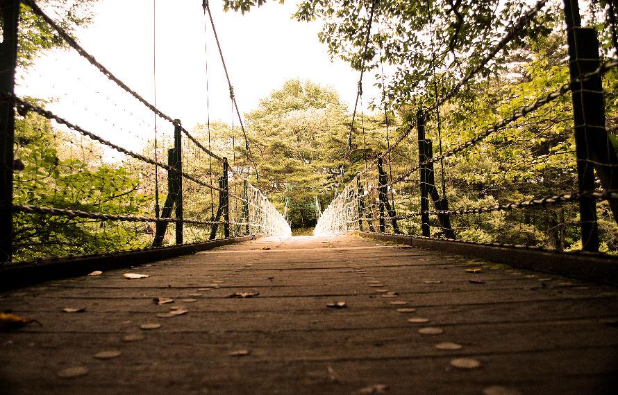 岩手県 厳美渓の吊り橋 撮影 松田光司