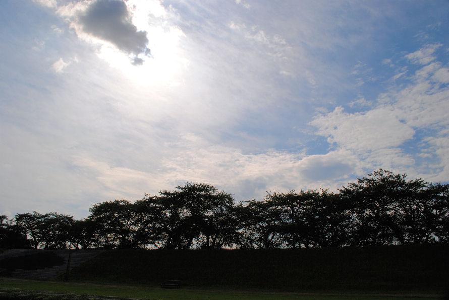 堤防と空 撮影 松田光司