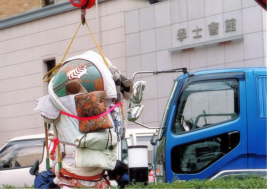 日本野球発祥の地モニュメント設置作業 撮影 松田光司