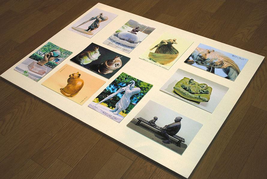 ブロンズ作品のポストカード 撮影 松田光司