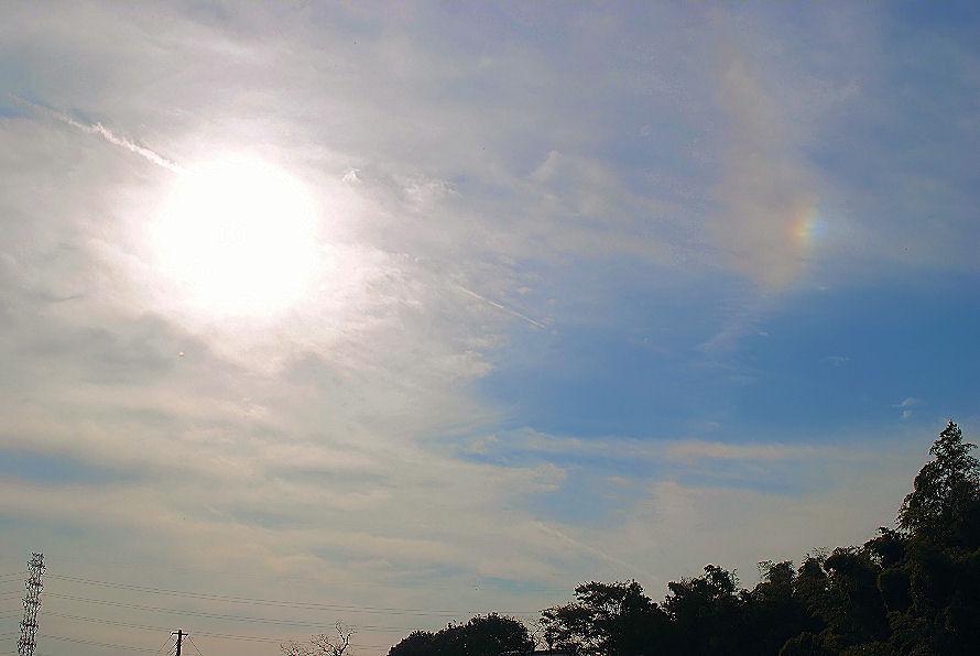 太陽と虹色の光 撮影 松田光司