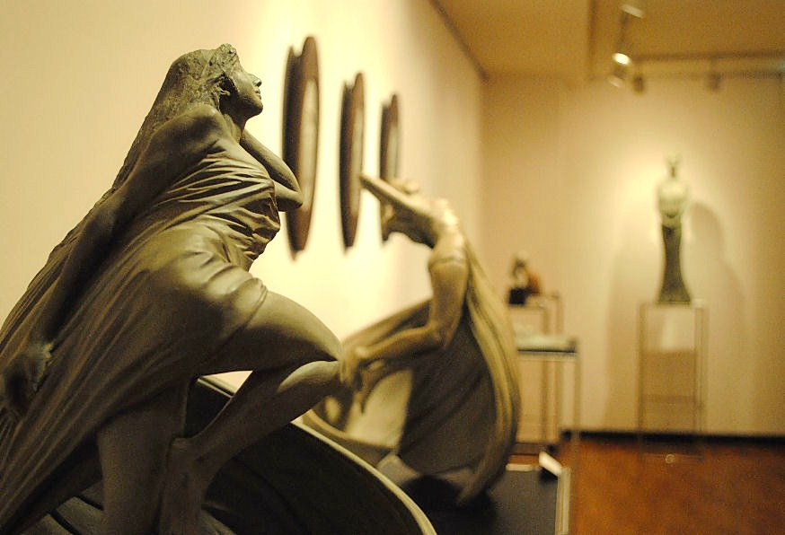 松田光司彫刻展(ギャラリー渓) 撮影 松田光司