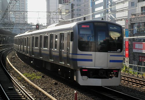 横クラE217系「Y-5」編成(2013年11月24日・五反田駅)2