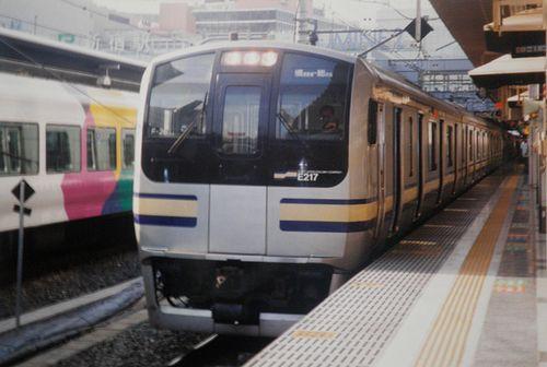 千マリE217系「F-26」編成(2004年8月11日・新宿駅)