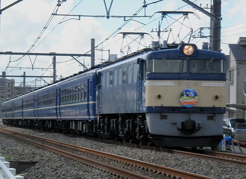 EF60 19[高]牽引「EL&SLみなかみ」(2012年8月4日・上尾~北上尾間)