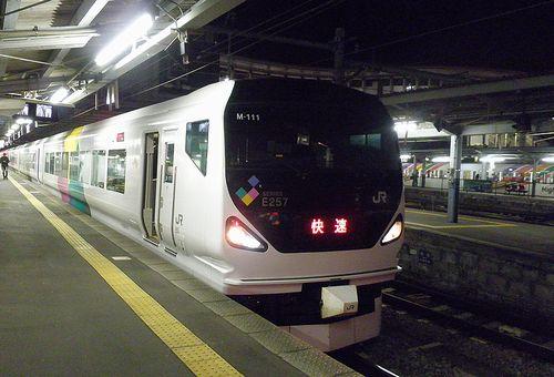 長モトE257系「M-111」編成(2013年11月30日・松本駅)