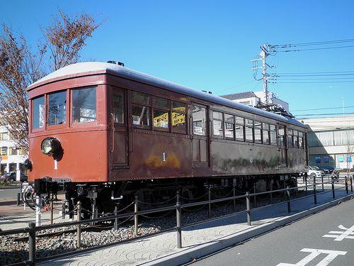 富士山麓電気鉄道モ1形(河口湖駅前・2013年11月30日)