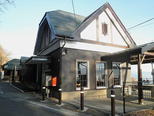 篠ノ井線姨捨駅・駅舎(2013年12月1日)