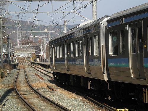 篠ノ井線姨捨駅・スイッチバック(長ナノ211系「N332編成」)(2013年12月1日)4