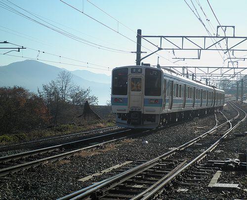 篠ノ井線姨捨駅・スイッチバック(長ナノ211系「N332編成」)(2013年12月1日)3