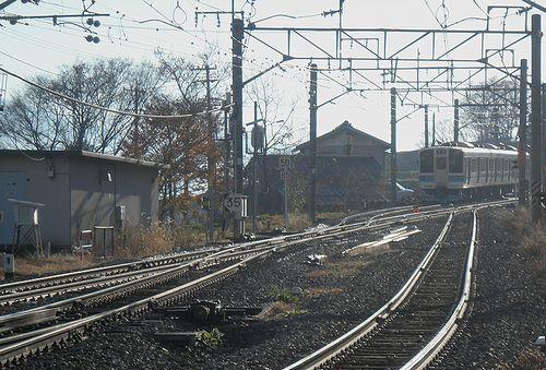 篠ノ井線姨捨駅・スイッチバック(長ナノ211系「N332編成」)(2013年12月1日)2