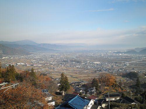 篠ノ井線姨捨駅からの展望(2013年12月1日)