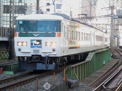 宮オオ185系「A4」編成(2014年1月7日・有楽町駅)1