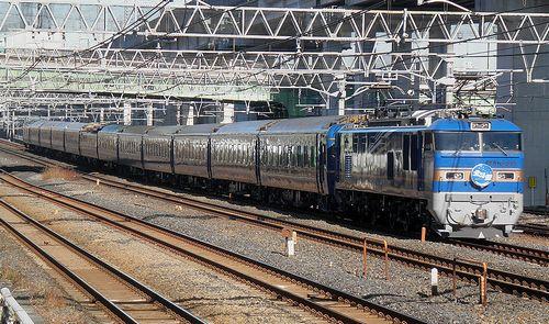 EF510-515[田]牽引「北斗星」(2014年1月16日・東十条駅)