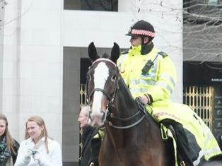 セントポール大聖堂の騎馬警官