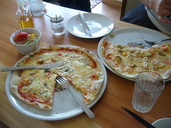 しらす干しのピザ2