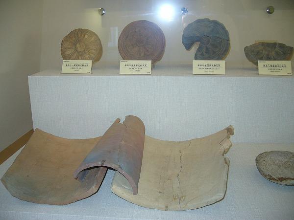 軒丸瓦(左から)