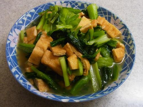 121222-231小松菜と油揚げの煮物(S)