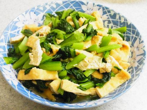 130503-231小松菜と油揚げの炊いたん(S)