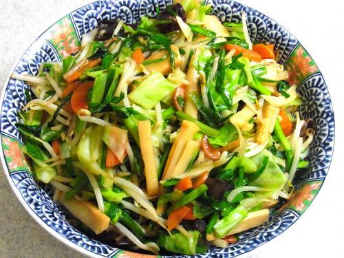 130803-221野菜とメンマの炒め(S)