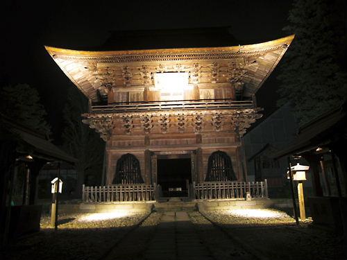 夜の長勝寺