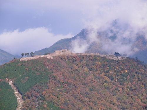 立雲峡より竹田城