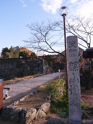 篠山城入口